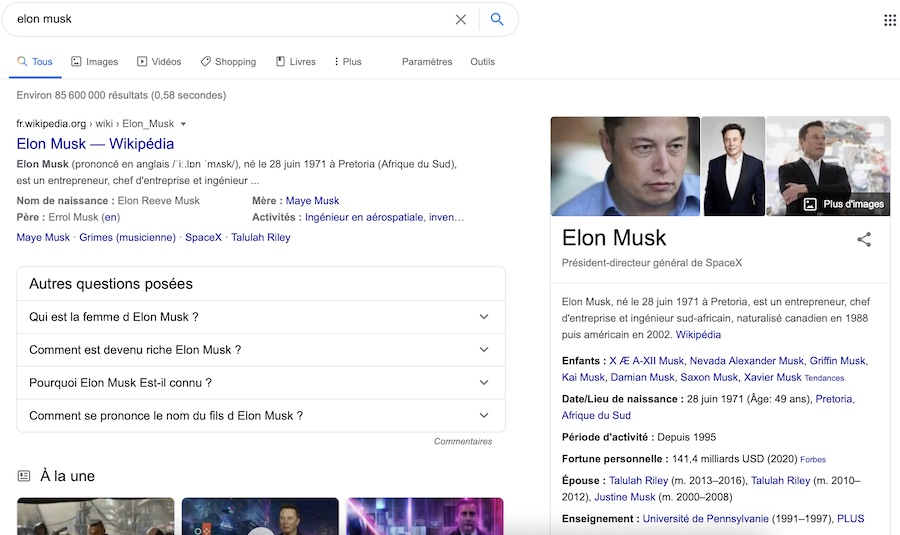 Knowledge Graph Elon Musk